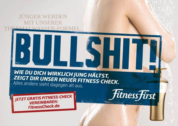 Motiv der Fitness-First-Kampagne