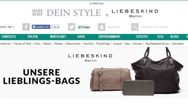 Gelungenes Native Advertising: Liebeskind trifft Huffington Post