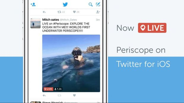 Twitter integriert Periscope-Video in seine iOS-App