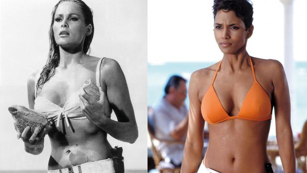 Ursula Andress und Halle Berry als Bond-Girls im Bikini