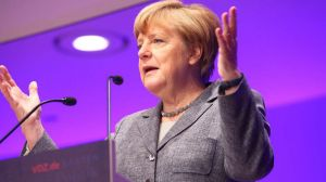 Angela Merkel beim Publisher´s Summit des VDZ