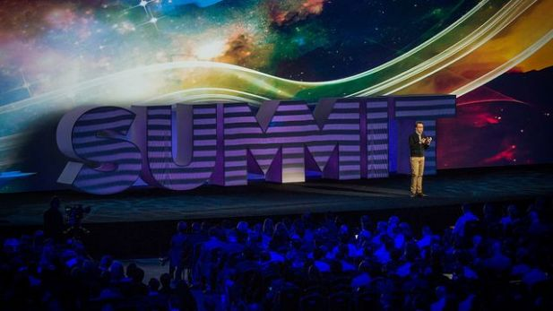 Adobe-Manager Brad Rencher beim EMEA Summit in London