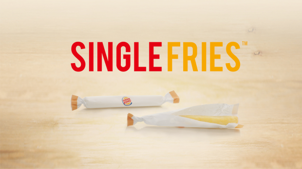 "Burger King wirbt in Frankreich für seine Innovation ""Single Fries"""