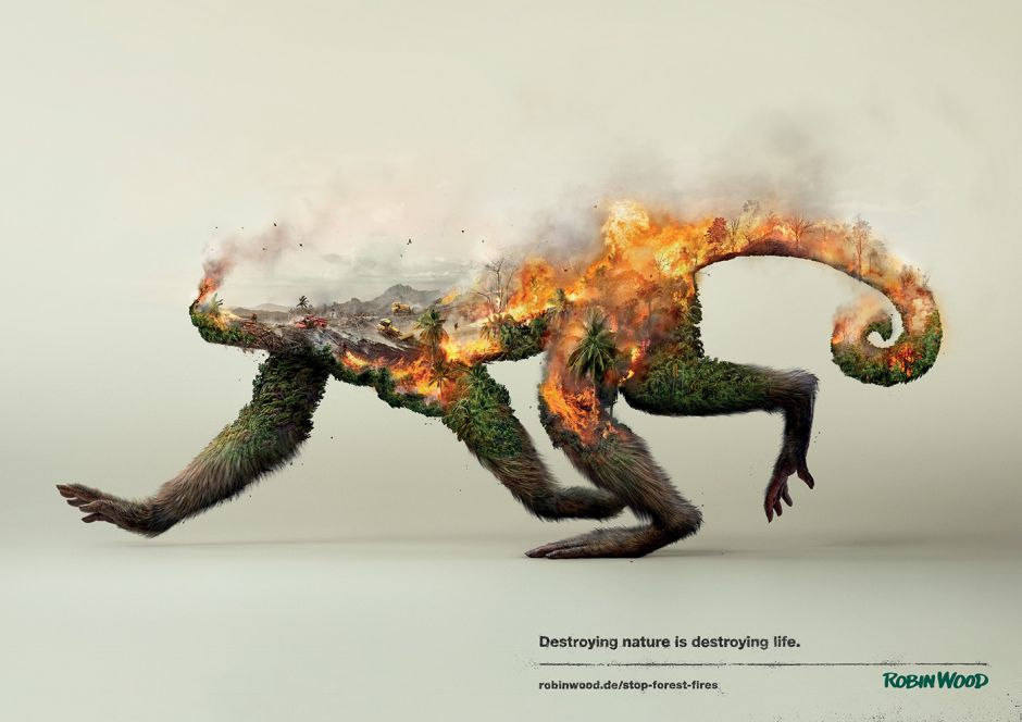 "Die Social-Kampagne ""Destroying Nature Is Destroying Life"" von Grabarz & Partner für Robin Wood"