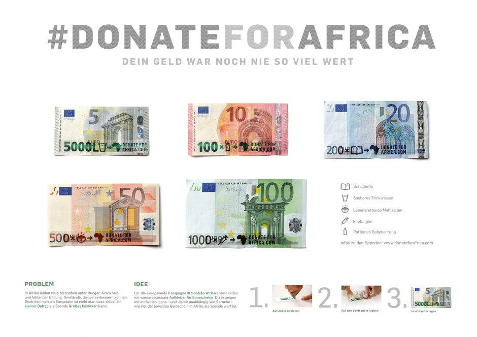 "Key Visual aus der ""Donate for Africa""-Kampagne von Scholz & Friends"