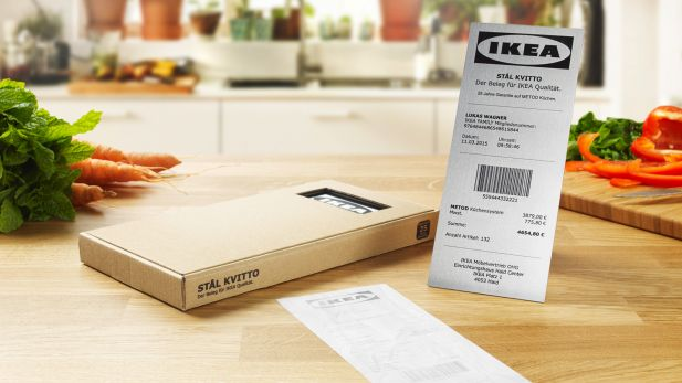 Stål Kvitto Ddb Entwickelt Ersten Umtauschbeleg Aus Stahl Für Ikea