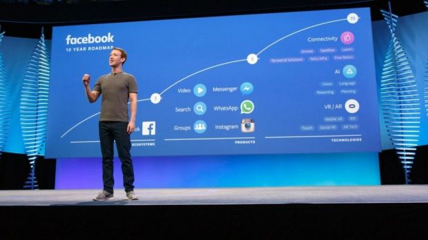 Facebook-Chef Mark Zuckerberg auf der F8 Mitte April