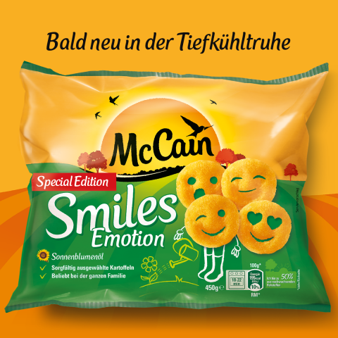 "Emojis als Pommes: Die McCain-Special-Edition ""Smiles"""