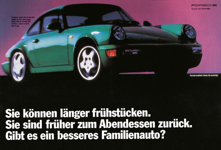 als junge angreiferagentur verpasst jung von matt der porsche werbung 1992 einen neuen look - Gute Werbung Beispiele