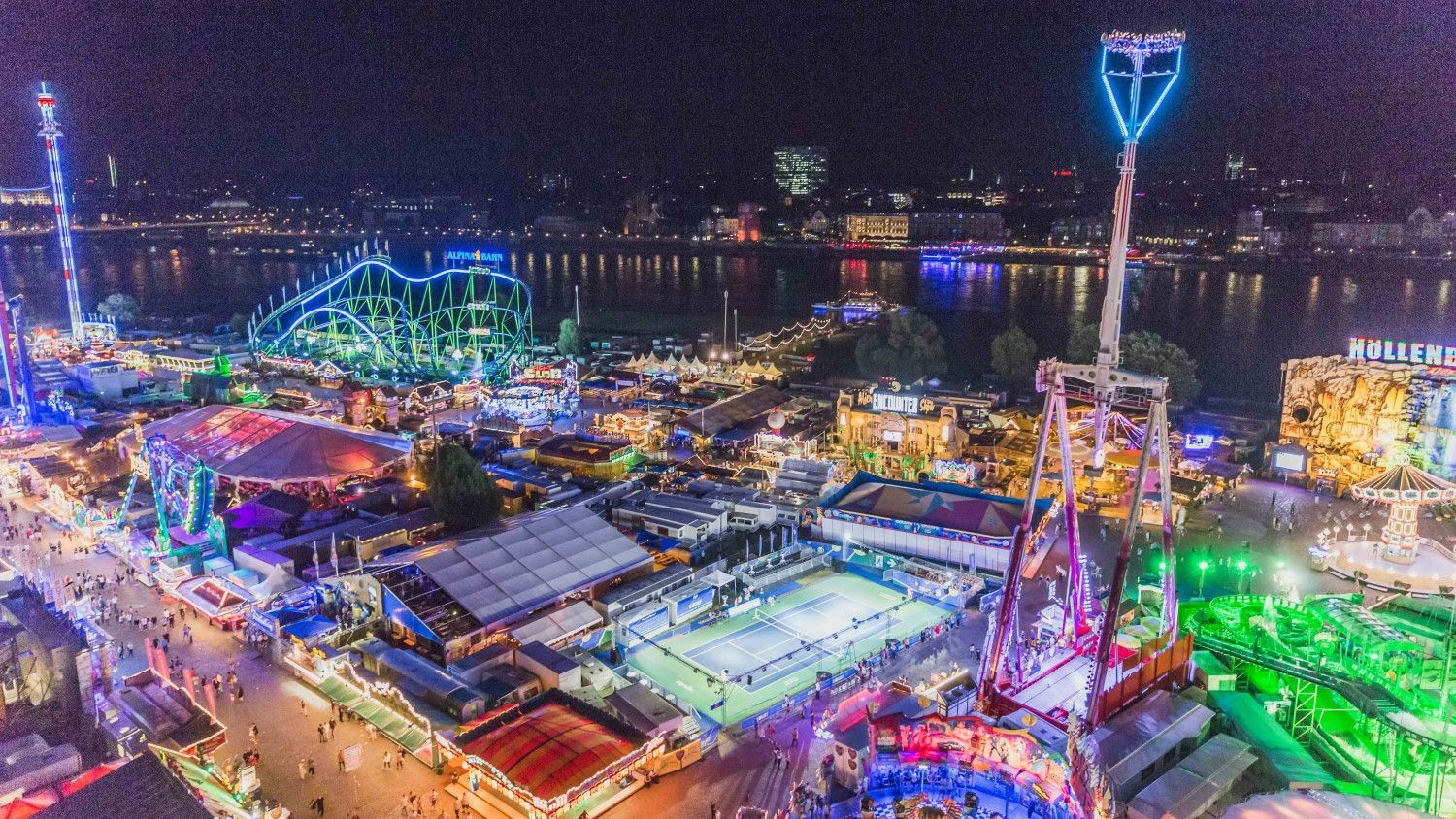 Inmitten der Rheinkirmes: Der Allpresan Center Court