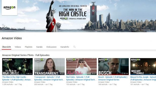 Der Youtube-Channel von Amazon Video