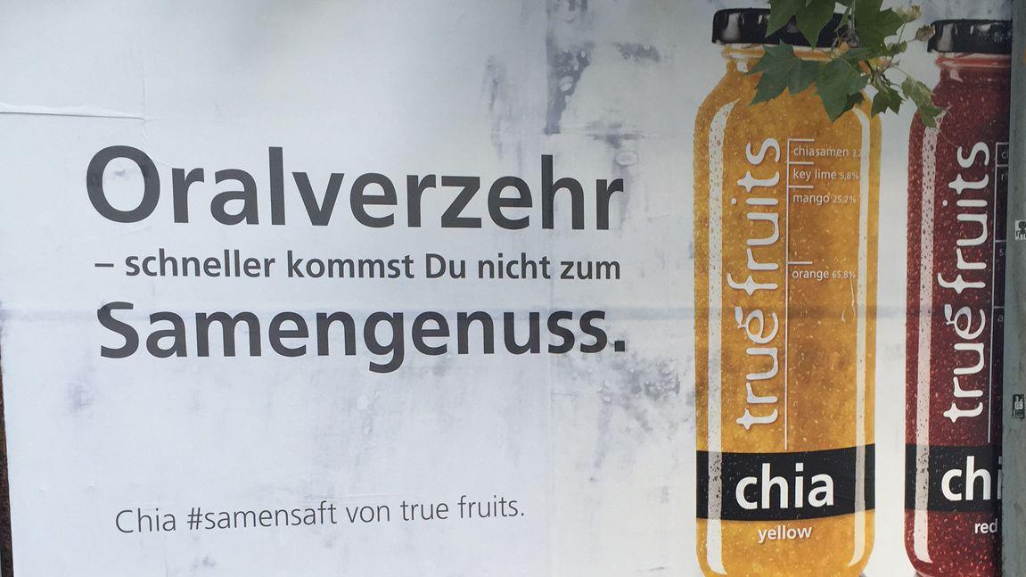 True Fruits: Was hinter den provokanten Samenstau-Plakaten steckt
