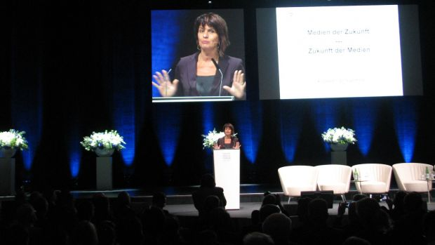 Doris Leuthard am Swiss Media Forum 2016.