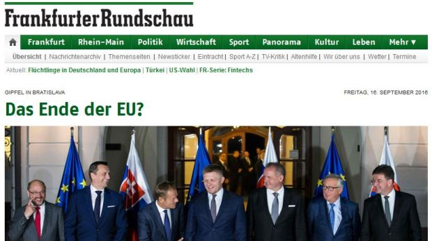 "Die Website der ""Frankfurter Rundschau"""