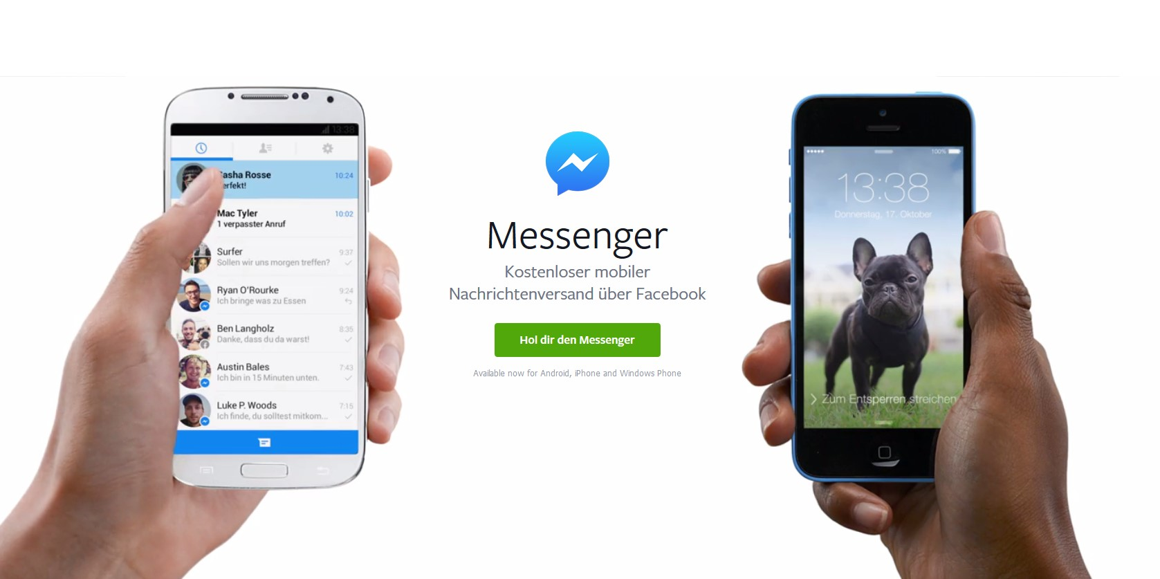 how to avoid messenger on facebook