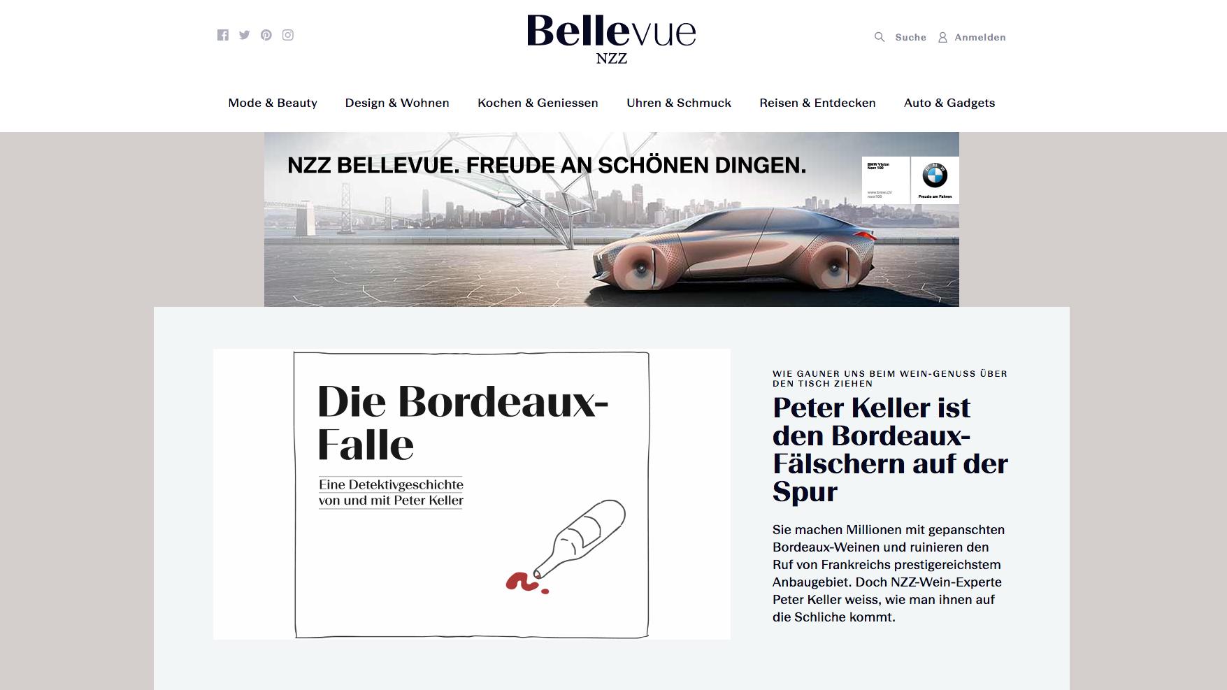 nzz neues lifestyle portal nzz bellevue ist online. Black Bedroom Furniture Sets. Home Design Ideas