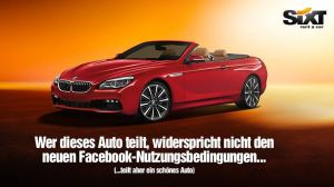 Sixt Facebook AGB