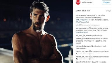 Under Armour wirbt mit Michael Phelps