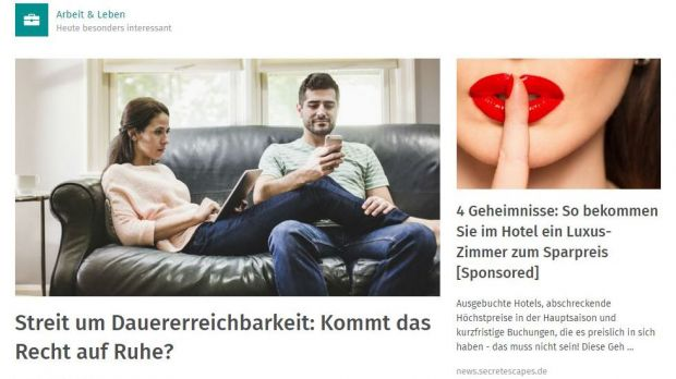 Sponsored Post bei Xing