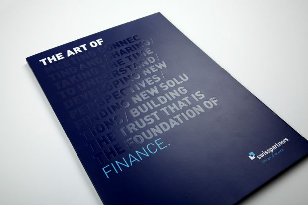 "Der swisspartner-Claim ""The Art of Finance"" – konkret umgesetzt."
