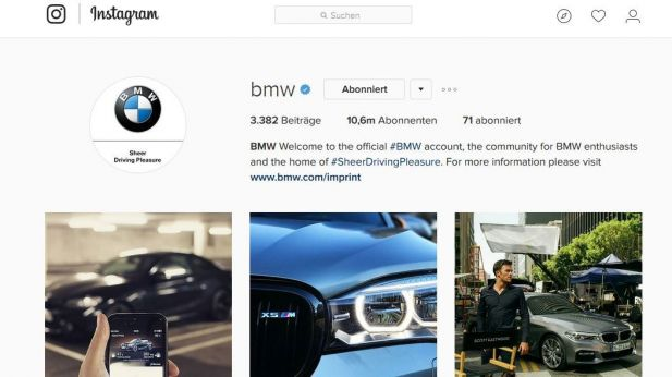 Freude Am Posten Bmw Knackt 10 Millionen Marke Auf Instagram