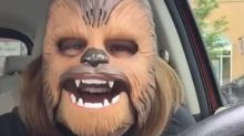 Chewbacca Mask Lady