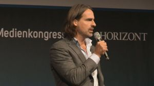 Richard-David Precht auf dem Deutschen Medienkongress