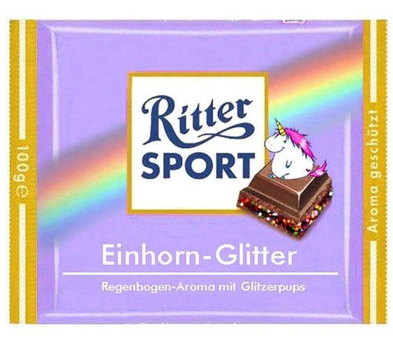 Quadratisch Magisch Gut Ritter Sport Bezaubert Einhorn Fans Mit