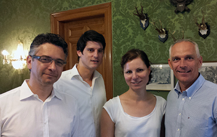 Wolfgang Dittrich, Benjamin Herz, Andrea Eckes und Roger Baur (v.l.n.r.; Quelle: d.core)