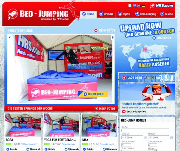 Bilder vom Bettentest auf Bed-Jumping.com