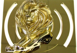 Goldener Radio-Lion