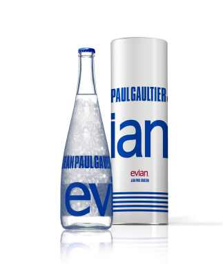 Jean Paul Gaultier gestaltete die Evian-Sonderedition 2009