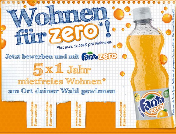 Screenshot der Fanta-Zero-Community