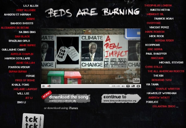 Screenshot der Website Timeforclimatejustice.org