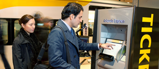 Eyetracking an Ticketautomat (Quelle: Tobii)