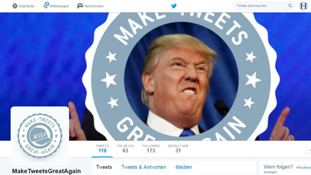 "Das Twitter-Profil von ""Make Tweets Great Again"""