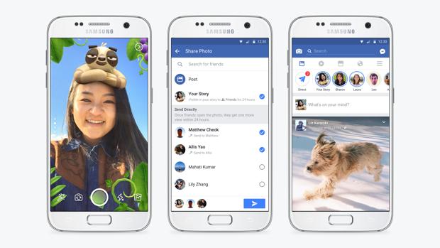 Facebook-Update soll Snapchat Konkurrenz machen