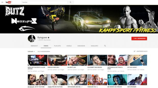 Der Youtube-Kanal von Flying Uwe