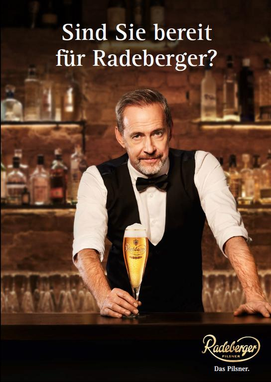 So wirbt Radeberger in Print
