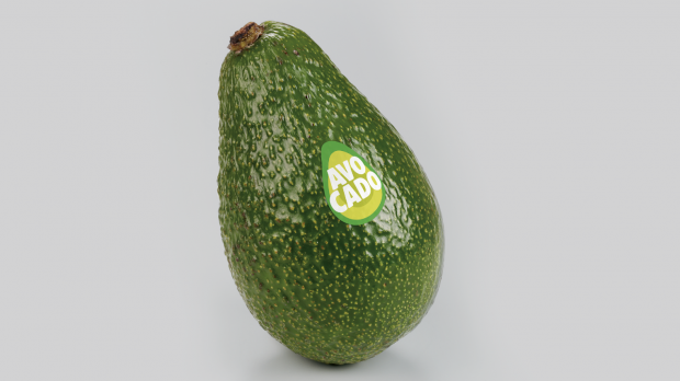 Avocado mit dem Fruit Sticker der WAO