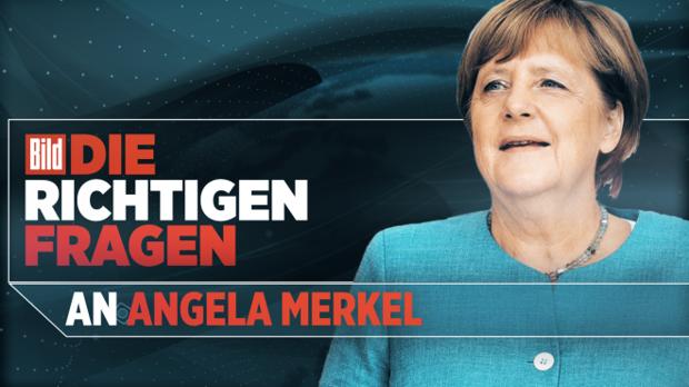 Angela Merkel stellt sich den Fragen der Bild