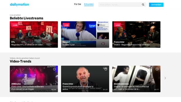 Dailymotion: Neues Layout und neue App