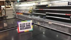 Kreativer Protest bei Edeka