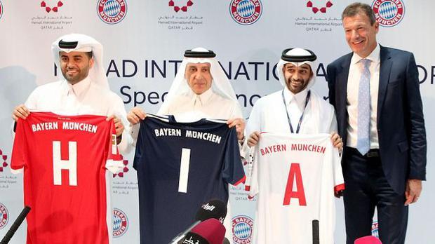 FC Bayern präsentiert Flughafen von Doha als Ärmelsponsor