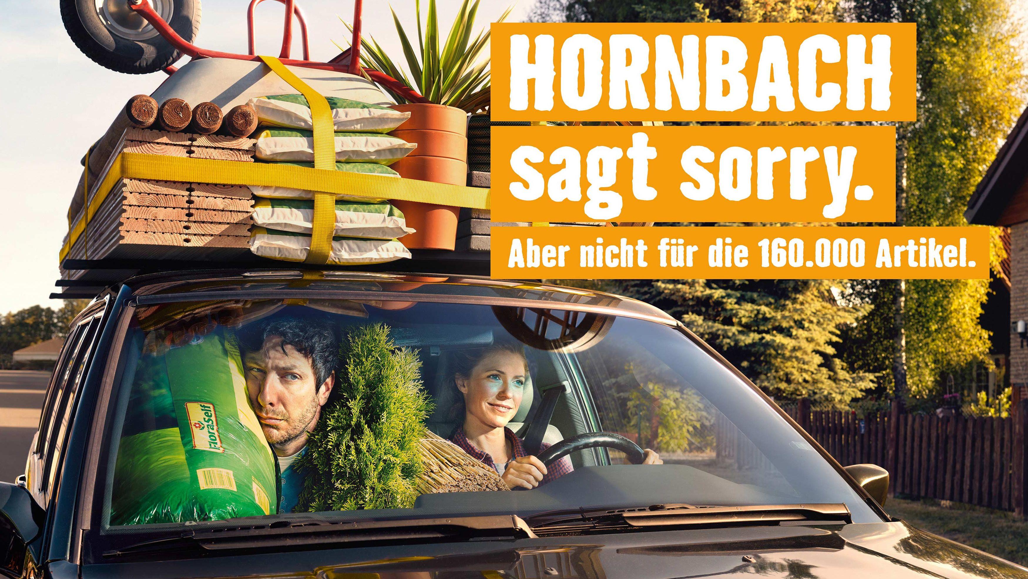 heimat hornbach sagt in seiner sommerkampagne sorry not sorry. Black Bedroom Furniture Sets. Home Design Ideas
