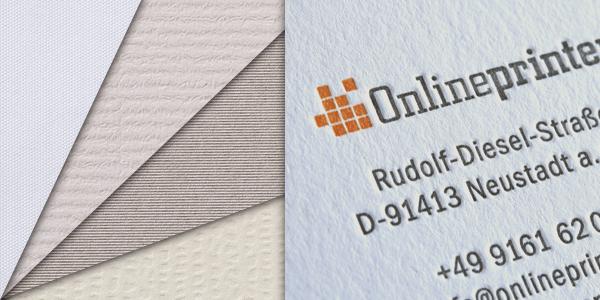 Onlinedruck Sponsored Post Luxuspapier Visitenkarten In