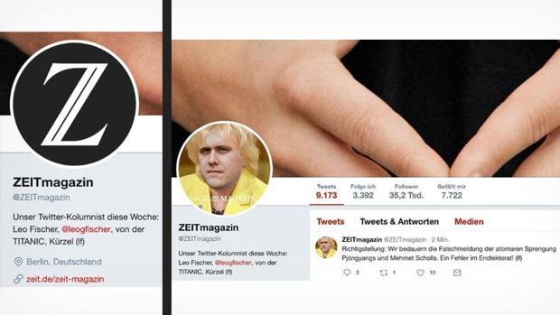 Zeit-Magazin lässt Titanic-Chef twittern, meldet Atombomben-Abwurf