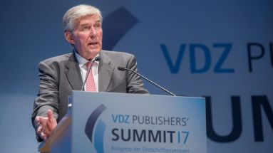 Rudolf Thiemann beim Publisher's Summit des VDZ