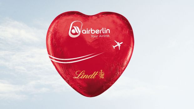 Air Berlin Schokoherzen