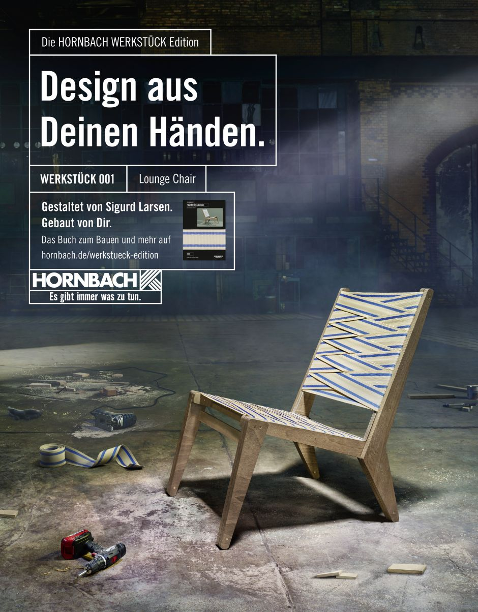 hornbach: nach dem panzerstahl-hammer kommt jetzt der designerstuhl